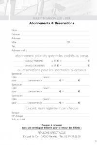 abonnements et réservations 17-18